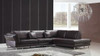 MALCO (F2011) 3 SEATER LEATHER/ETTE COMBINATION CHAISE LOUNGE - ASSORTED COLOURS