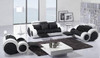 MADISON-II (F6005B) 1 SEATER + 2 SEATER + 3 SEATER LEATHER/ETTE COMBINATION LOUNGE SUITE - ASSORTED COLOURS