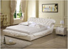 QUEEN UMA LEATHERETTE BED (A878) - ASSORTED COLOURS