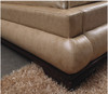 QUEEN RIKI LEATHERETTE BED (A889) - ASSORTED COLOURS