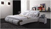 QUEEN JULIAN-GRAY LEATHERETTE BED (A8187) - ASSORTED COLOURS