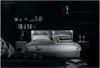 QUEEN CLAUDE DOMINIQUE LEATHERETTE BED (A9011) - ASSORTED COLOURS