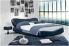 QUEEN FRANCINE LEATHERETTE BED (A9012) - ASSORTED COLOURS