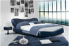 FRANCINE QUEEN 3 PIECE BEDSIDE BEDROOM SUITE WITH (#118 BEDSIDES) - LEATHERETTE - ASSORTED COLOURS