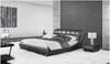 JANSEN KING 3 PIECE BEDSIDE BEDROOM SUITE - LEATHERETTE - ASSORTED