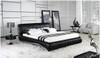 VANDER BERG QUEEN 3 PIECE BEDSIDE BEDROOM SUITE - LEATHERETTE - ASSORTED COLOURS