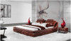 RAINES QUEEN 3 PIECE BEDSIDE BEDROOM SUITE - LEATHERETTE - ASSORTED COLOURS (WITH OPTIONAL UPGRADE FOR GAS LIFT UNDERBED STORAGE)