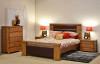 COLORADO KING 3 PIECE BEDSIDE BEDROOM SUITE - NATURAL