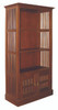 2 DOOR FUJI BOOKCASE (BC-200-DW) - 1900(H) x 1000(W) - MAHOGANY OR CHOCOLATE