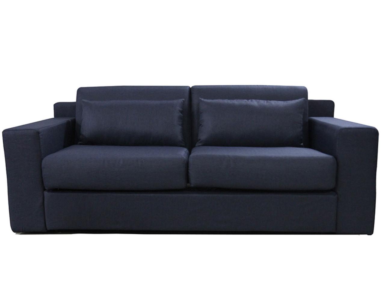 Lunar Pull Out Sofa Bed   Dark Blue   Online Furniture ...