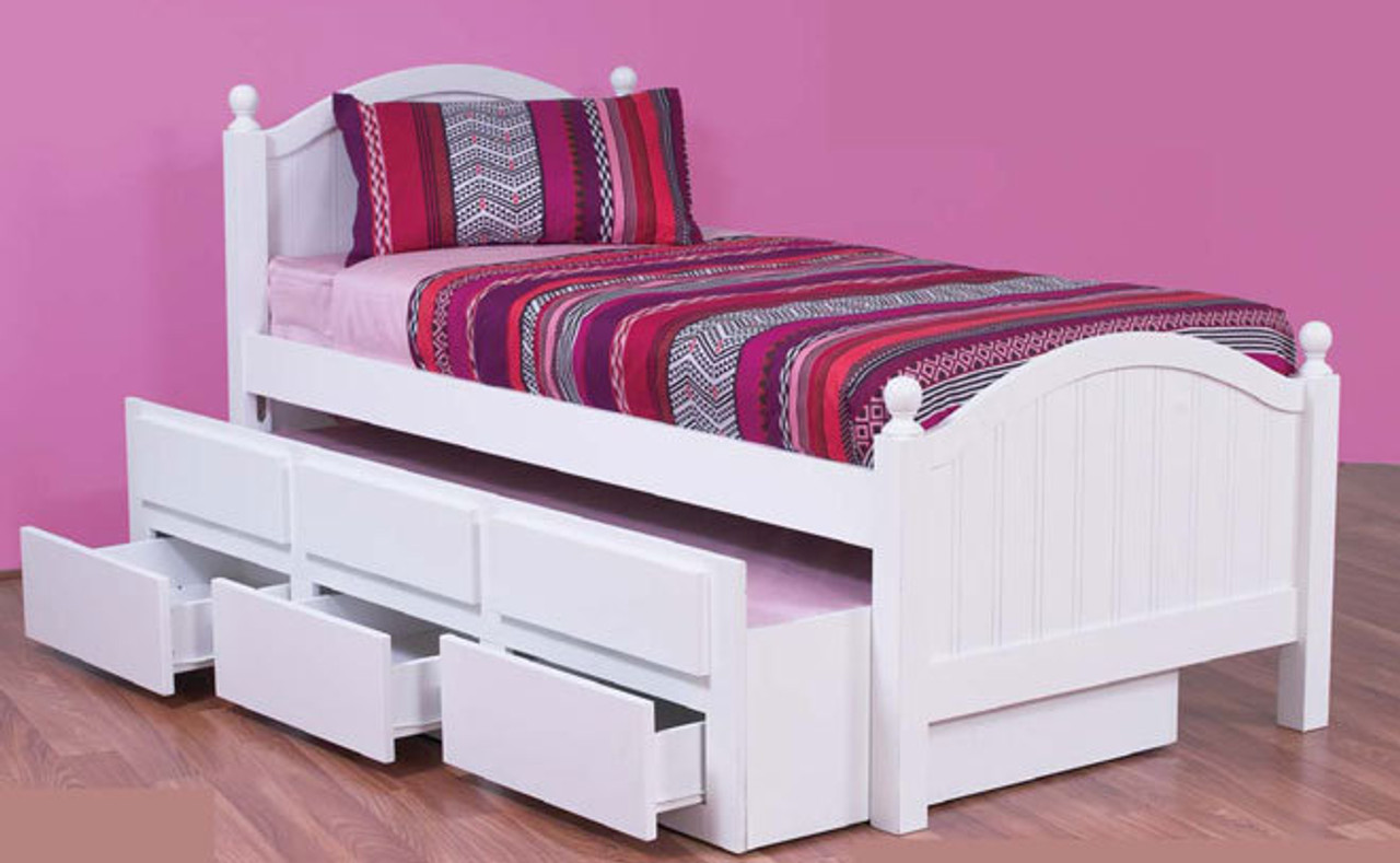 Single Kelly Captains Bed With Storage Single Trundle Arctic White My Furniture Store Furniture And Bedding Super Store Australia