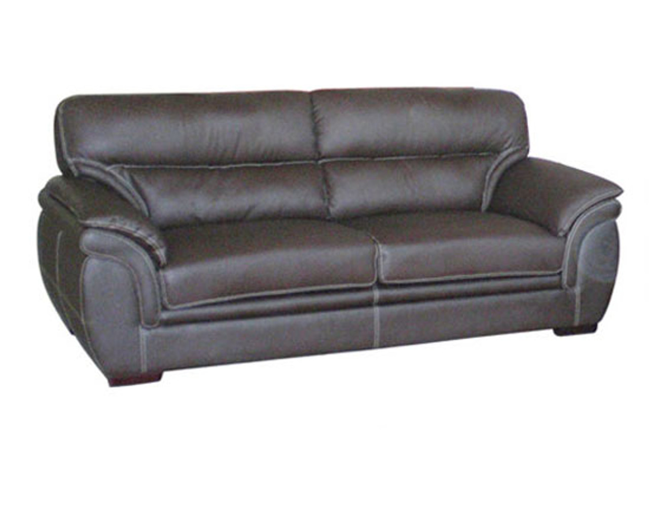 MATILDA 3 SEATER BONDED LEATHER SOFA LOUNGE - BLACK , RED , GREY OR ...