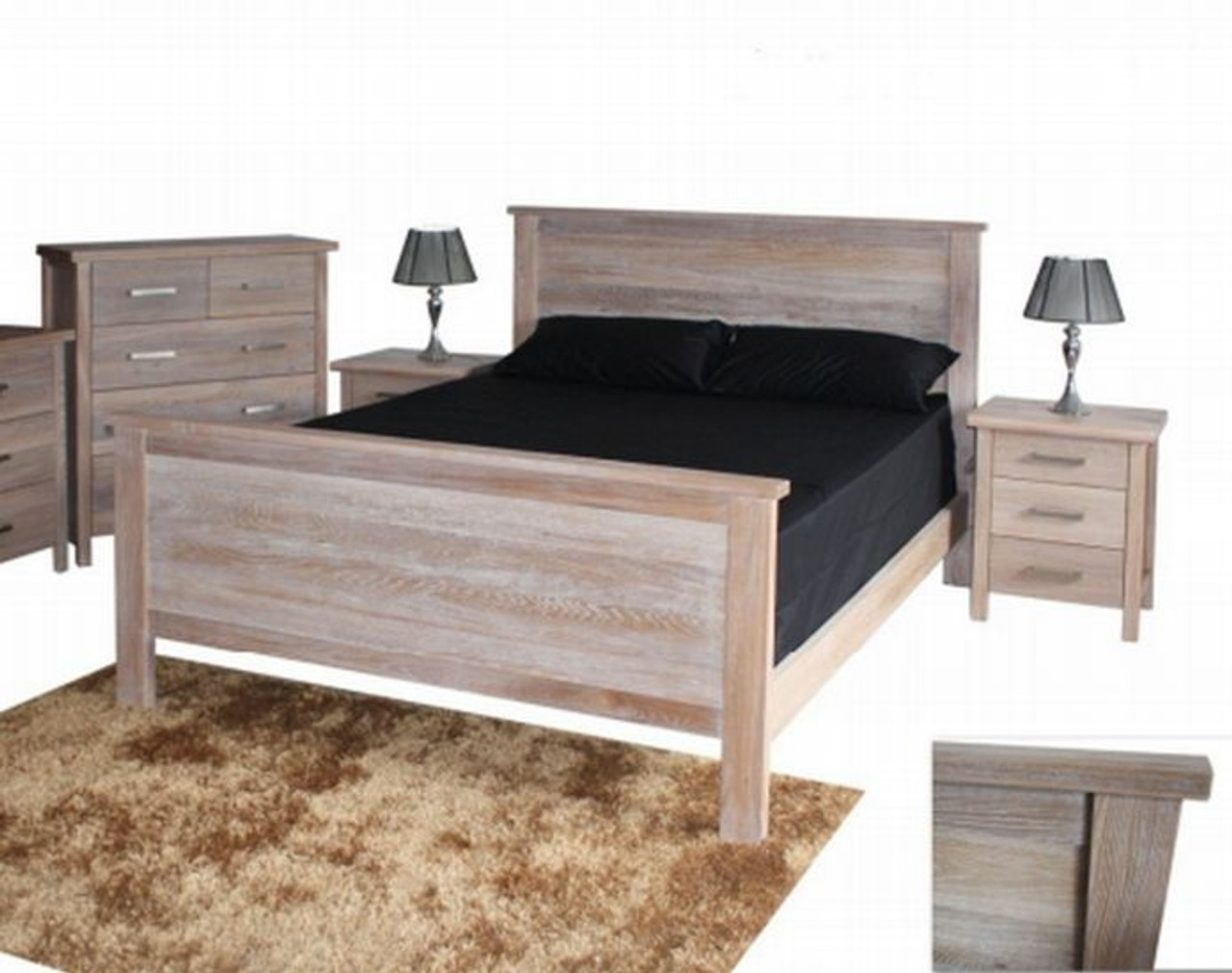Picture of: Queen Gap Bed Whitewash My Furniture Store Furniture And Bedding Super Store Australia