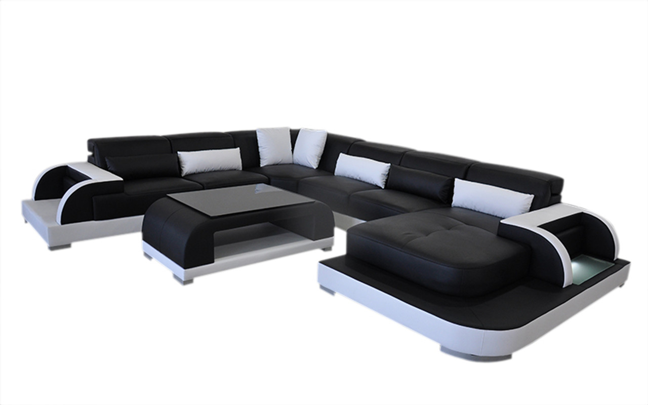 Gandill L6012 Corner Chaise Lounge Suite With Coffee Table And Small Cushions Black White My Furniture Store Furniture And Bedding Super Store Australia