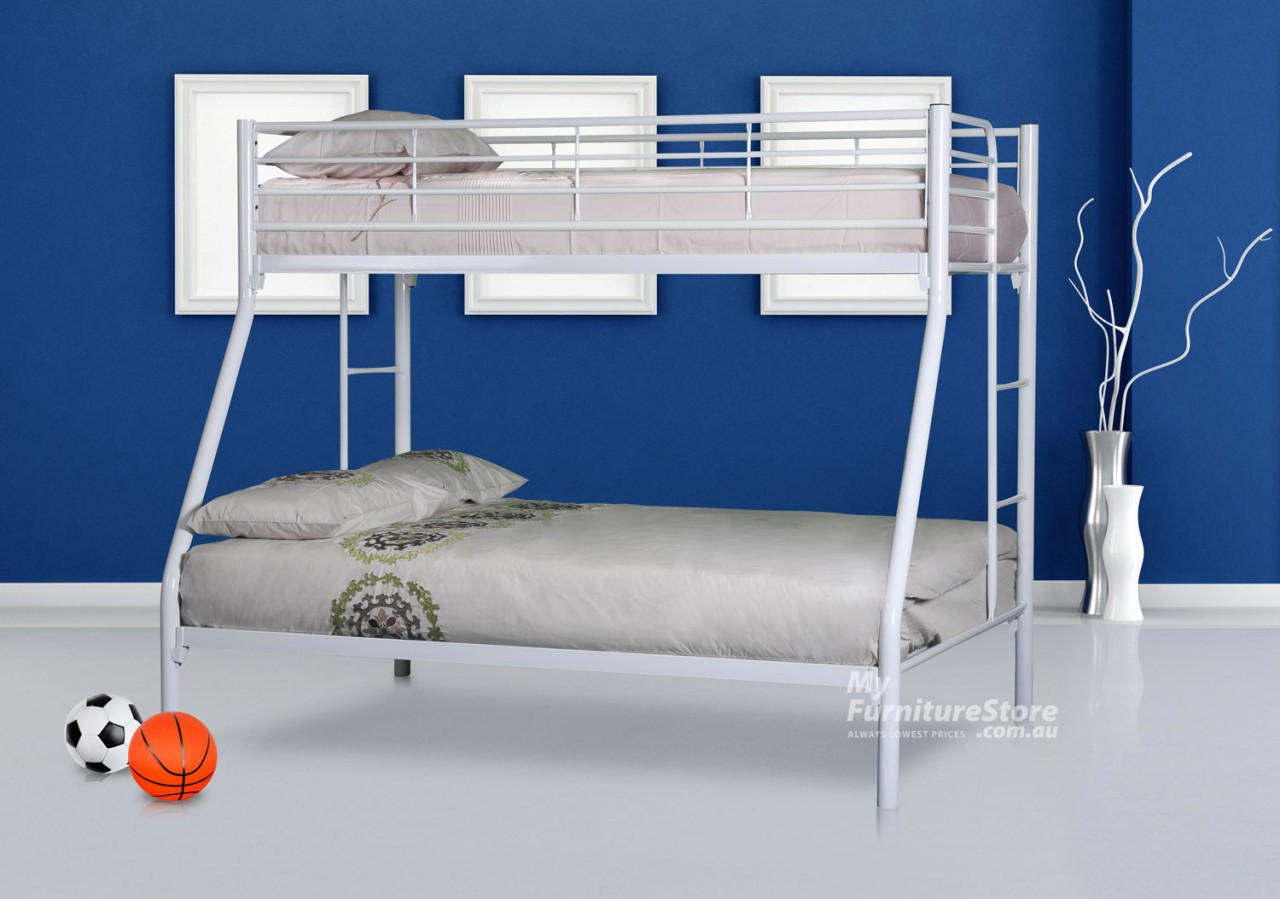 Darwin Trio Bunk Bed White Australia S Best Online Furniture