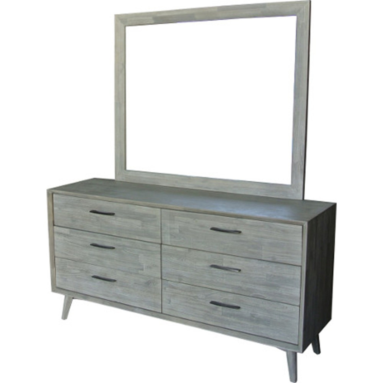 Seattle 6 Drawer Dresser Mirror Sandblast Light Grey My Furniture Store Furniture And Bedding Super Store Australia