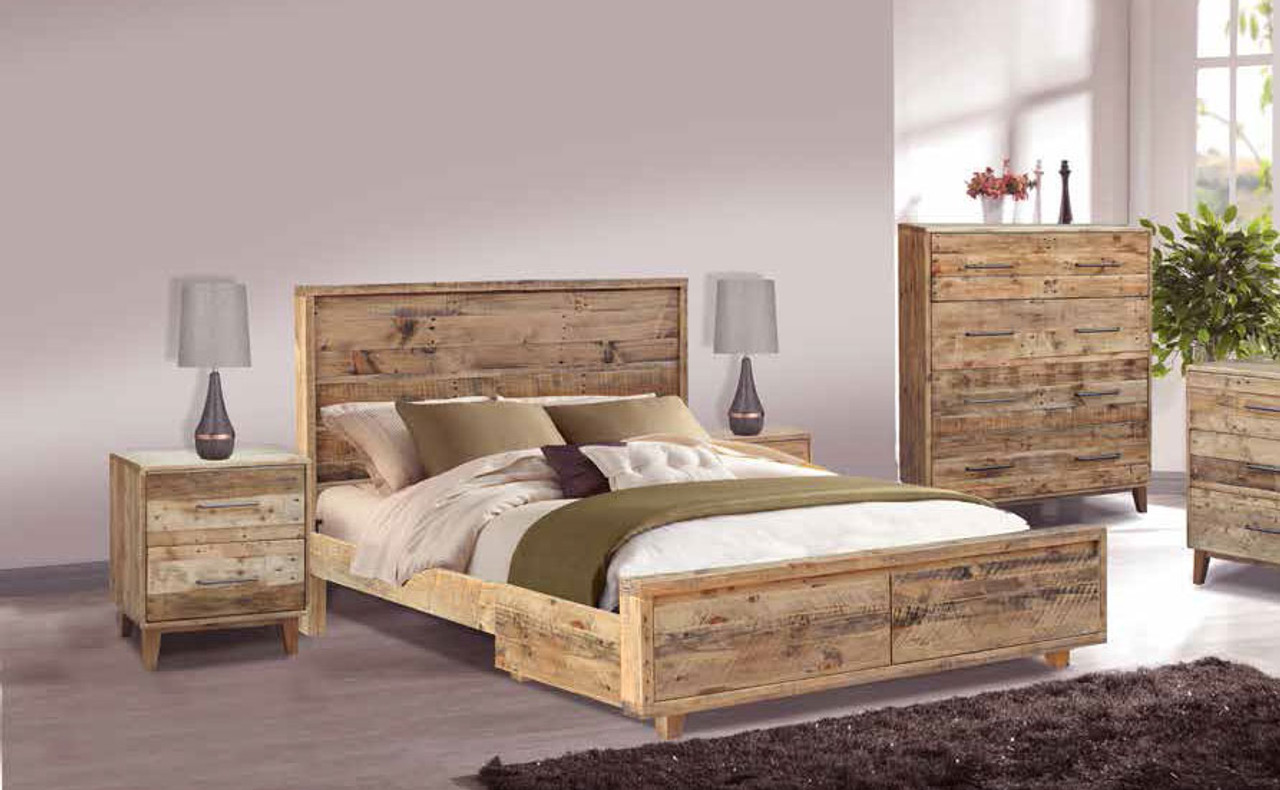 Queen Loftwood Bed With 2 Under Bed Storage Drawers Wood Crate My Furniture Store Furniture And Bedding Super Store Australia