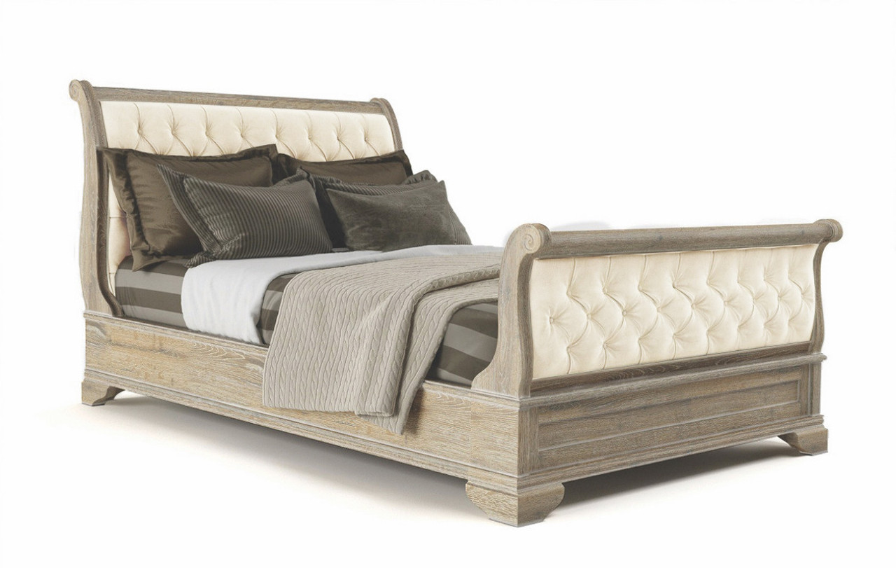 King Upway Sleigh Bed Timber Fabric Upholstered 9 2 126 1 Natura L Light Oatmeal My Furniture Store Furniture And Bedding Super Store Australia
