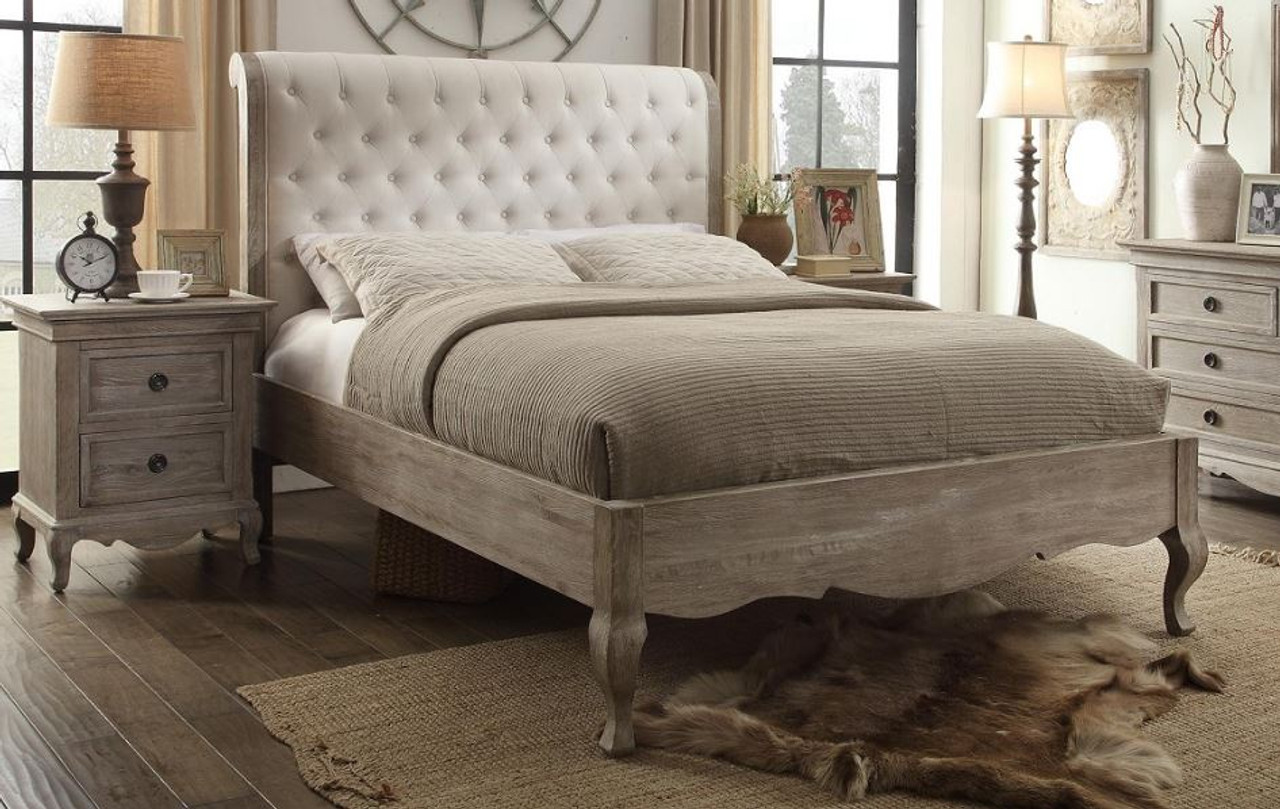 Queen Charles European White Ash Low Foot End Bed Frame With Upholstered Bedhead Model 3 8 1 12 12 9 19 Light Brown Off White My Furniture Store Furniture And Bedding Super Store Australia