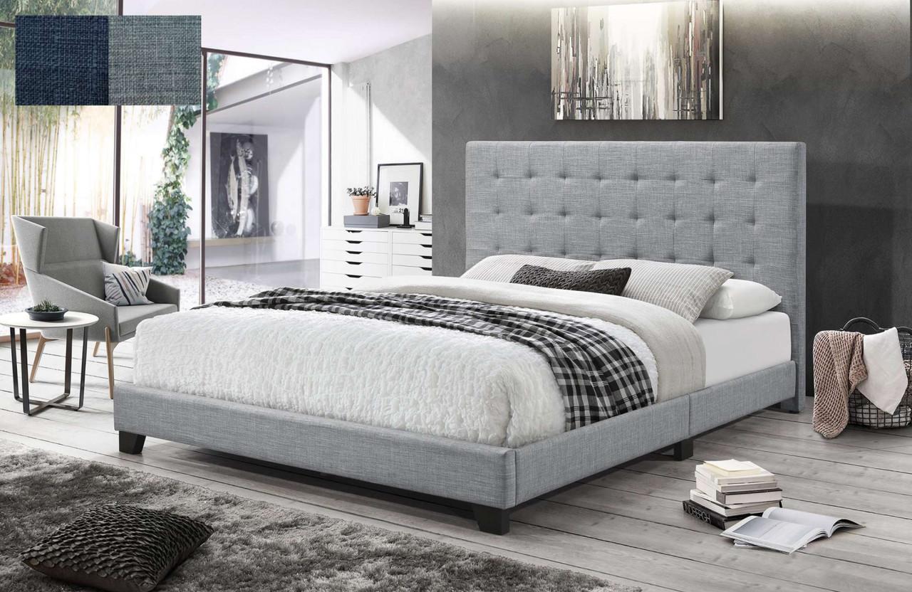 . QUEEN PRAGUE BED   CHARCOAL OR LIGHT GREY   Australia s Best Online