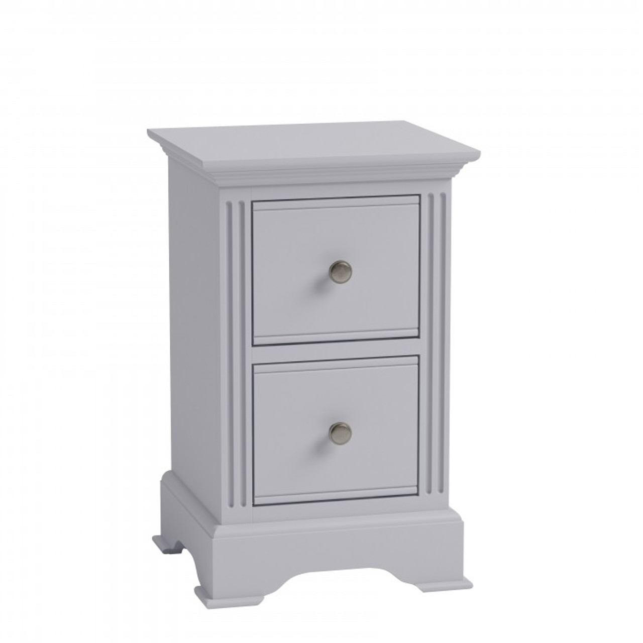 Picture of: Torridge 2 Drawer Small Bedside Table Bpg Grey My Furniture Store Furniture And Bedding Super Store Australia