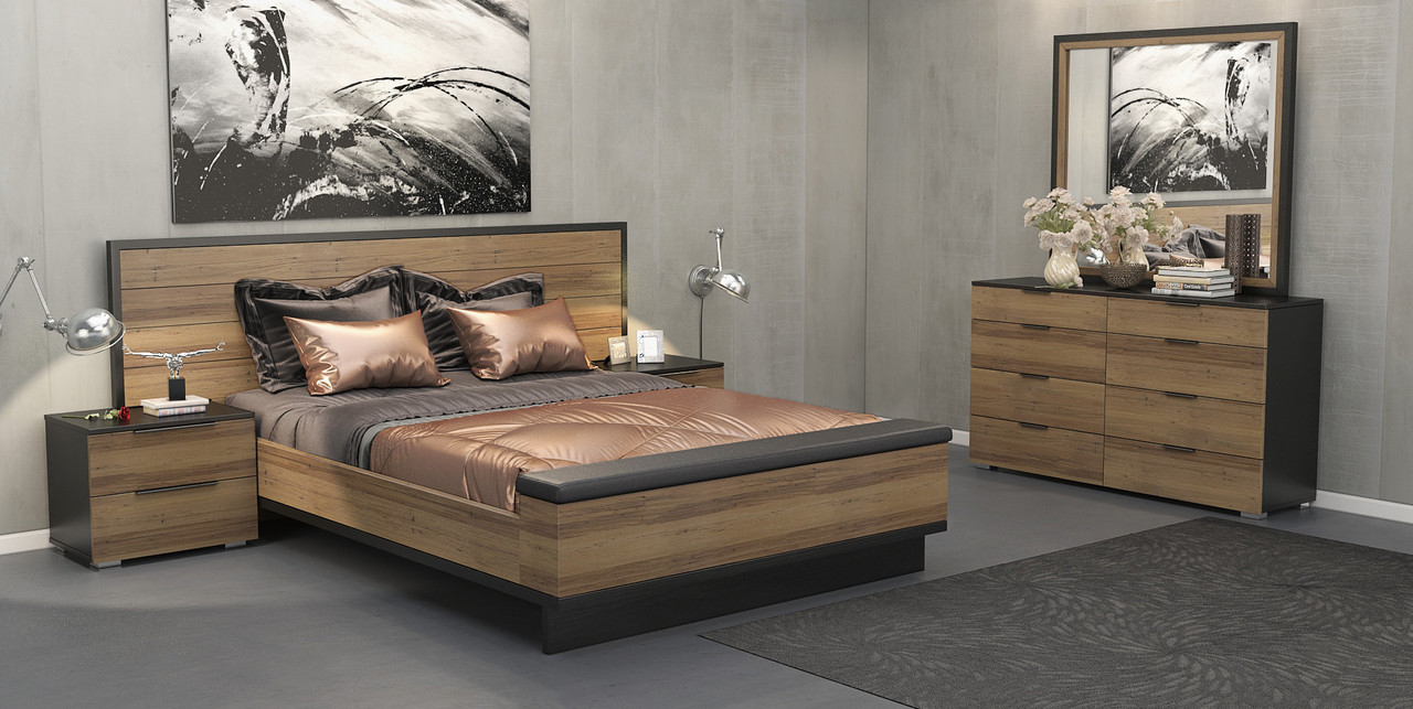 King Lexington Solid Wood Bed Brown Black My Furniture Store Furniture And Bedding Super Store Australia