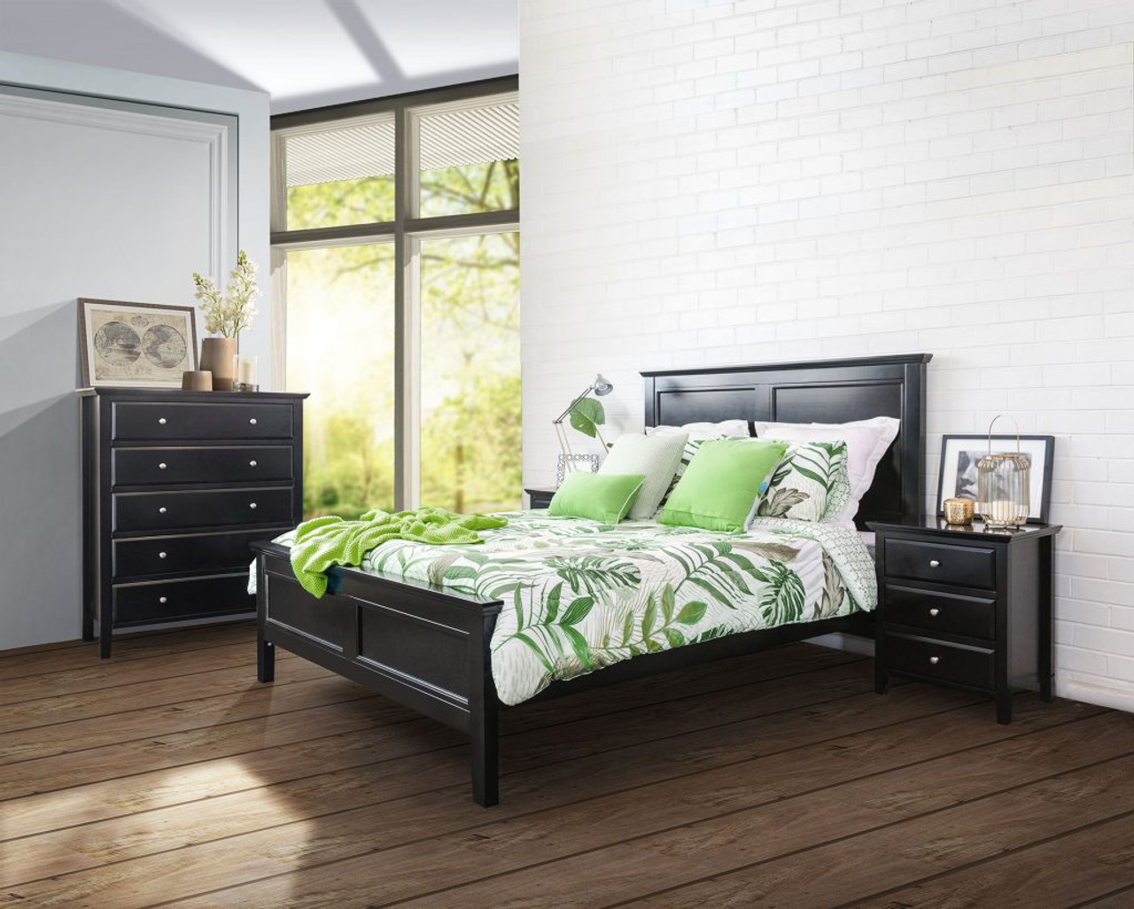 Ballina Double Or Queen 5 Piece Dresser Bedroom Suite Black My Furniture Store Furniture And Bedding Super Store Australia
