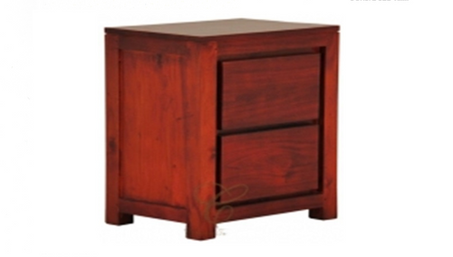 AMSTERDAM 2 DRAWER  BEDSIDE  (BS 002  TA) - ASSORTED COLOURS