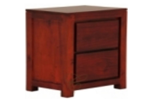 2 DRAWER AUSTIN BEDSIDE - WHITE(NOT AS PICTURED) - (MODEL 1-13-19-20-5-18-4-1-13)
