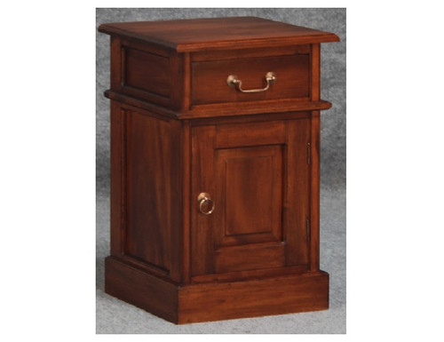 1 SOLID DOOR 1 DRAWER BEDSIDE (BS 101 PN) - WHITE (NOT AS PICTURED)