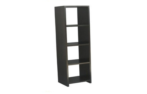 4 VERTICAL CUBE SHELF (CU-004-VRPN) - 1800(H) x 460(W) - MAHOGANY OR CHOCOLATE