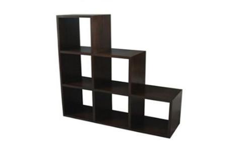 6 STAIRS CUBE SHELF (CU-006-RPN) -  1320(W) X 400(D) - MAHOGANY OR CHOCOLATE