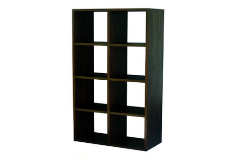 8 CUBE SHELF (CU-008-RPN) - 1750(H) x 890(W) - MAHOGANY OR CHOCOLATE