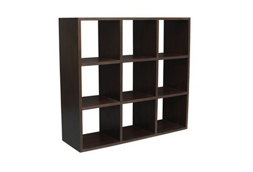 9 CUBE SHELF (CU-009-RPN) - 1320(H) x 1320(W) - MAHOGANY OR CHOCOLATE