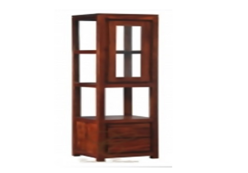 AMSTERDAM 1 DOOR 2 DRAWER DISPLAY CABINET  (DC 102 TA) -  ASSORTED COLOURS