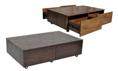 ISABELLA COFFEE TABLE -  1200(W) X 590(D) - ANTIQUE OAK