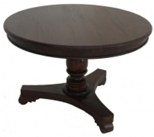 ROUND DINING TABLE ONLY (DT 120 RD) - 1200(DIAM) - MAHOGANY OR CHOCOLATE