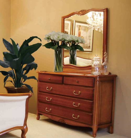 LOUIS DRESSING TABLE (BE-211) WITH MIRROR -  880(H) X 1280(W)  - CHERRY