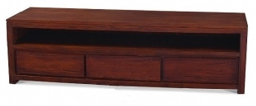 AMSTERDAM  3 DRAWER ENTERTAINMENT UNIT (SB 003 TA)  -  540(H) x 1900(W) - MAHOGANY OR CHOCOLATE