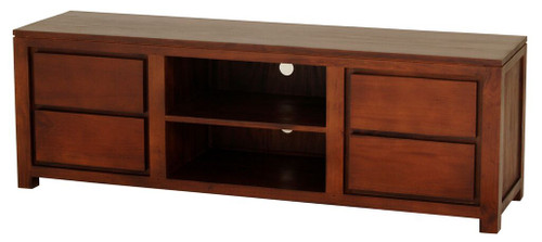 AMSTERDAM  4 DRAWER ENTERTAINMENT UNIT (SB 004 TA) -560(H) x 1700(W)  -  MAHOGANY