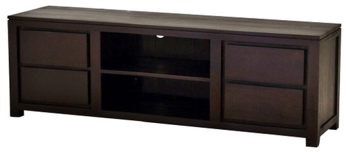 AMSTERDAM    4 DRAWER ENTERTAINMENT UNIT  ( SB  004 TA 200) -560(H) x 2000(W) - CHOCOLATE
