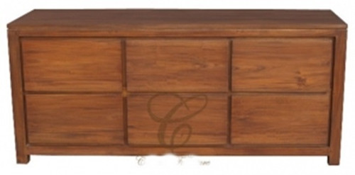 AMSTERDAM  6 DRAWER DRESSER (SB 006 TA)  -  770(H) X 1740(W)  - ASSORTED COLOURS
