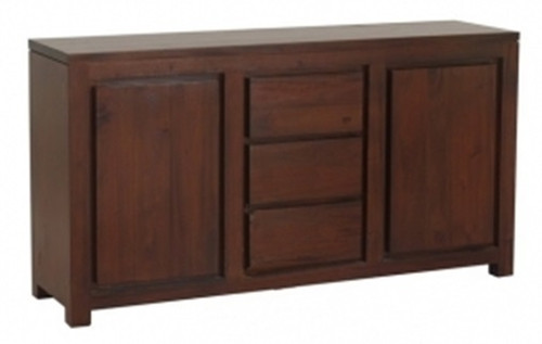 AMSTERDAM  2 DOOR 3 DRAWER BUFFET (SB 203 TA)  - 800(H) X 1500(W)  - MAHOGANY OR CHOCOLATE