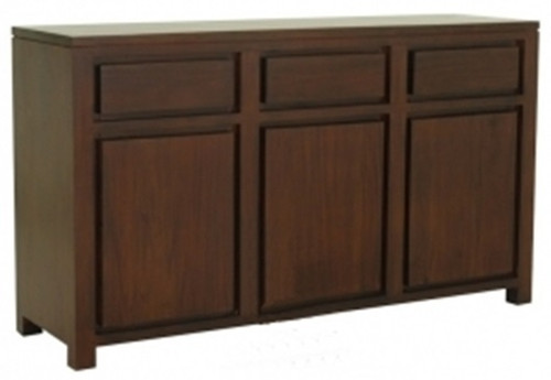 AMSTERDAM 3 DOOR 3 DRAWER BUFFET  (SB 303 TA) - 900(H) X 1560(W) -MAHOGANY OR CHOCOLATE -