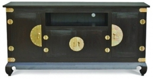 CHINESE 4 DOOR  ENTERTAINMENT UNIT (SB 400 CSN) -1820(W) - MAHOGANY OR CHOCOLATE