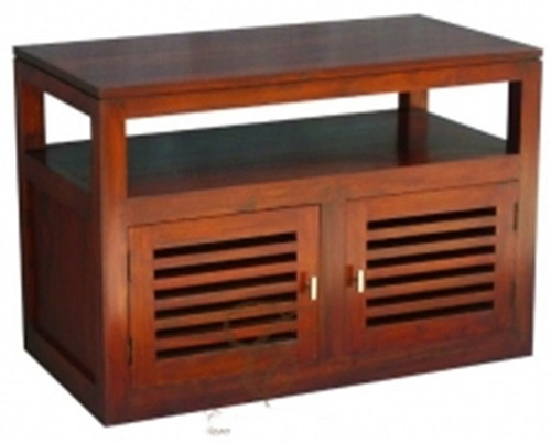 HOLLAND  2 DOOR TV STAND  (TV 200 HSR FL)  - 600(H) x 970(W) - MAHOGANY OR CHOCOLATE -