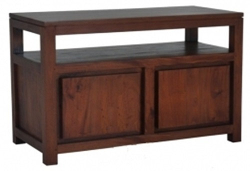 AMSTERDAM 2 DOOR TV STAND (TV 200 TA) - 600(H) x 970(W)-  MAHOGANY OR CHOCOLATE