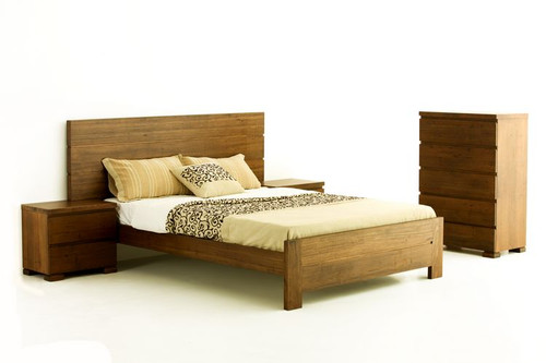 BROOKLYN QUEEN 3 PIECE BEDSIDE BEDROOM SUITE - RUSTIC