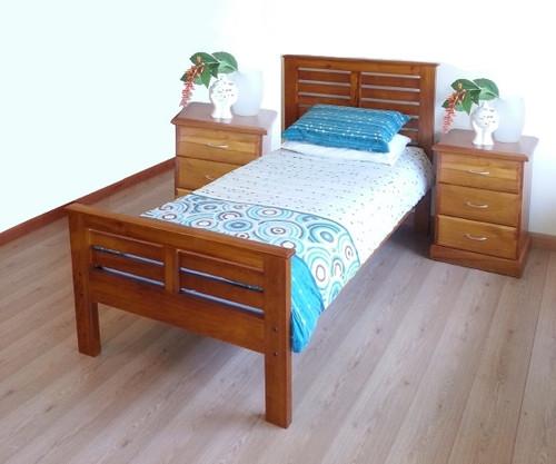 HAVEN QUEEN 3 PIECE BEDSIDE BEDROOM SUITE (AHV300 / CAV103) - ASSORTED COLORS