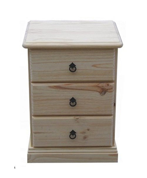 BOOKEND DELUXE 3 DRAWER BEDSIDE (CSA103) - ASSORTED COLORS